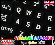 English LARGE LETTER Non-Transparent Keyboard Stickers Computer Laptop 4 Colours