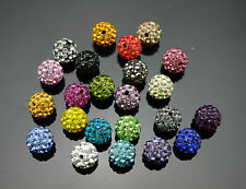 10pcs Crystal 10MM beads FOR Pave Disco Balls Rhinestone Ball 25 color Free Ship