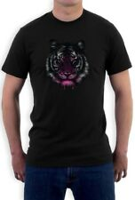 Tiger T-Shirt Dripping Cool Birthday Gift Idea Holiday Crewneck Tee Top Crew Te