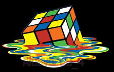 ✿✿ MELTING RUBIKS CUBE BIG BANG  IRON ON TRANSFER CREATE T SHIRTS CHEAPLY ✿✿