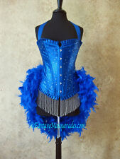 Scattered Crystal Feather Burlesque Carnival Showgirl Circus Mardi Gras Costume