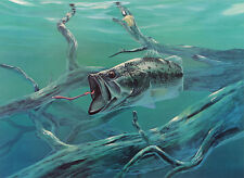 HD Print Oil painting Picture Fish on fishing on canvas L258