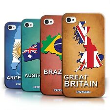 STUFF4 Back Case/Cover/Skin for Apple iPhone 4/4S/Flag Nations