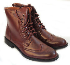 NEW *DELLI ALDO* MENS HIGH ANKLE BOOTS LACEUP OXFORDS WING TIP DRESS SHOES/BROWN