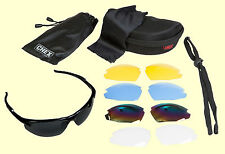 CHEX Hunting Sunglasses Sportsglasses 5 Lens Sets Inc Tinted Yellow & Clear