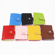 Cool Pu Leather Pocket Business Credit ID Card Holder Wallet for 24 Cards