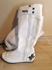 Womens white Replay boots size 6