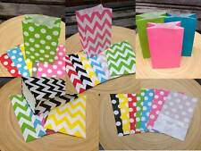 CHEVRON / POLKA DOT Flat bottom Stand up Paper Party LOOT Favour Gift Bag (x 12)