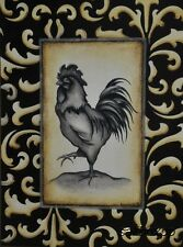 """KL086 French Country Rooster II Kim Lewis 12""""x16"""" framed or unframed print art"""