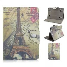 """Folio Retro Vintage Eiffel Tower Printed Leather Stand Case Cover For 7"""" Tablet"""