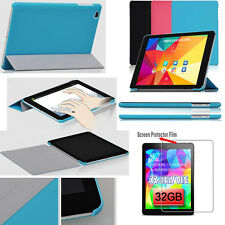 "Ultra Slim Folio Leather Case Cover For 9.7"" CUBE T9 4G Tablet  + Screen Film"