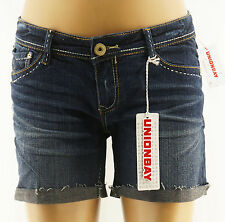 Unionbay Jean Shorts Juniors Iona Blue Destroyed Denim