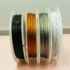 1 Spool x Tiger Tail 0.38 Jewellery BEADING Cord WIRE 60M 70M 100M ~PICK COLOR~