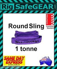 1 TONNE Round Lifting Sling Various Lengths 100% Polyester Spanset / Auslift