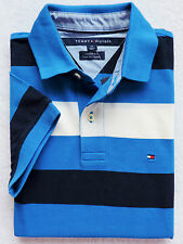 NWT Mens Tommy Hilfiger Custom Fit Short Sleeve Striped Polo