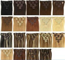 """2017 new 15""""-28"""" 7PCS Clip In 100% Remy Human Hair Extensions 70g 80g 100g 120g"""