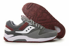 Saucony Grid 9000 GREY RED WHITE S70077-26 Mens Running Shoe *New