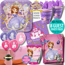 SOFIA THE FIRST PRINCESS PARTY SUPPLIES PLATES NAPKINS BALLOONS PARTY PACKS