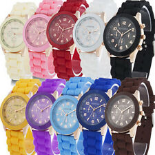 Unisex Geneva Silicone Jelly Gel Quartz Analog Sport Wrist Watch Women Girls US2
