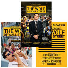 The Wolf of Wall Street Leonardo DiCaprio Poster A1 A2 A3 Satin gloss Large