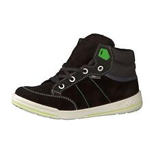 Ricosta Bajo Boys / Mens Black Suede Leather High Top Boots Medium Fit - NEW IN