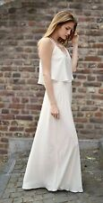 Size S, M - ZARA MAXI DRESS WITH FINE STRAPS LONG DRAPED DOUBLE LAYERED DRESS