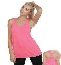 Exist NEON Fluorescent Knotted Racer Back Yoga Tank Top - URBAN SASSY