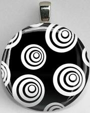 Handmade Interchangeable Magnetic Black and White Patterns #45 Pendant Necklace