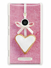 GRÜV Case Cover Pink Fabric Heart for Nokia Devices