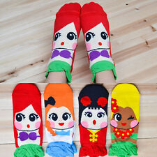Korean Womens Retro Vintage Cute Cartoon Girls Cotton Ankle Socks Low Cut Socks