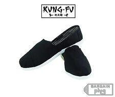 Black Kung Fu Shoes Mens Canvas Slip On Casual Kicks House Loafers Karate Ninja