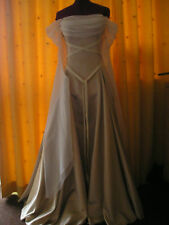 MEDIEVAL PAGAN WEDDING DRESS GOLD IVORY MADE TO MEASURE 10 12 14 16 18 20