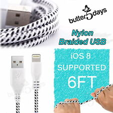 For iPhone 6 Plus 5S 5C 5 USB Cable Cord Nylon Data Sync Braided Charging 6FT