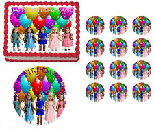 American Girl Dolls Collage Party Edible Cake Topper Frosting Sheet-All Sizes!