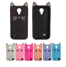 2015 Hot! Crystal Fruit Cat Purry Silicone Case for Samsung Galaxy S4 S5 Note4