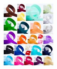 22m Roll Double Sided Satin Ribbon 25mm wide Shiny most demanding vibrant colour