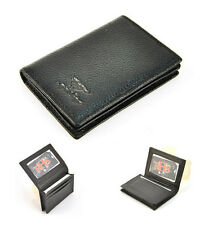 Genuine Real Leather Business Name Credit ID Card Holder Wallet Men Women Case