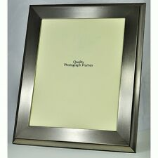 Quality Designer BRUSHED SILVER Photo/Picture Frame - Various Sizes available