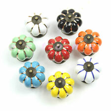 8Color's Pumpkins Shaped Knobs Handles For Kitchen Drawer Door Cabinets Cupboard