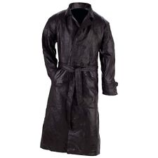 Men's Leather Trench Duster Coat Sm-4X