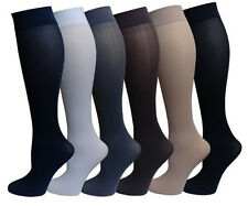 6 Pairs Pack Women Stretchy Spandex Trouser Socks Opaque Knee High