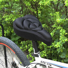 Cycling Bike Silicone Saddle Seat Cover Gel Cushion Soft Comfortable Pad 1PCS