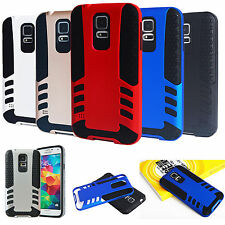 Shockproof Rubber Armor Hybrid Best Impact Hard Case Cover For Samsung Galaxy S5