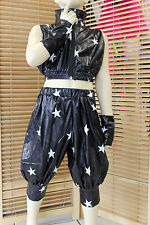 HIP HOP JAZZ STREET DANCE DISCO JACKET TROUSERS AND GLOVES AGE 110 TO 150 CM