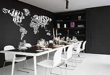 Map of the World with words Giant Wall Art Sticker, Vinyl WA159 Iconic Image
