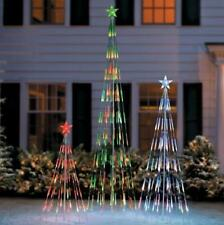 LIGHT STRING COLOR CHANGING CHRISTMAS TREE Outdoor Holiday Yard Decor 3 SIZES