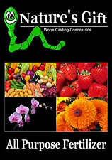 ALL PURPOSE ORGANIC GARDEN FERTILIZER, WORM CASTING EXTRACT CONCENTRATE