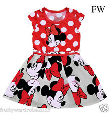 NUOVO Cartoon Stampa Minnie Mouse Costume GIRLS TODDLER BABY Fancy Dress Outfit