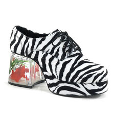 Funtasma Pimp-02 Mens Zebra Print Platform Shoes - Costume,Fancy Dress,Shoes,Bla