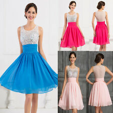CHEAP Beaded Short Mini Bridesmaid Evening Cocktail Party Ball Gown Prom Dresses